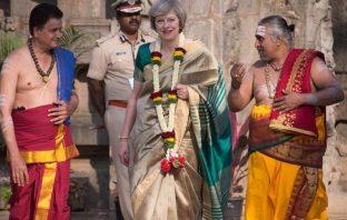 British PM in Saree