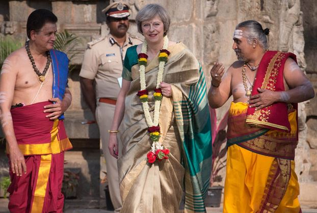 British PM in Saree